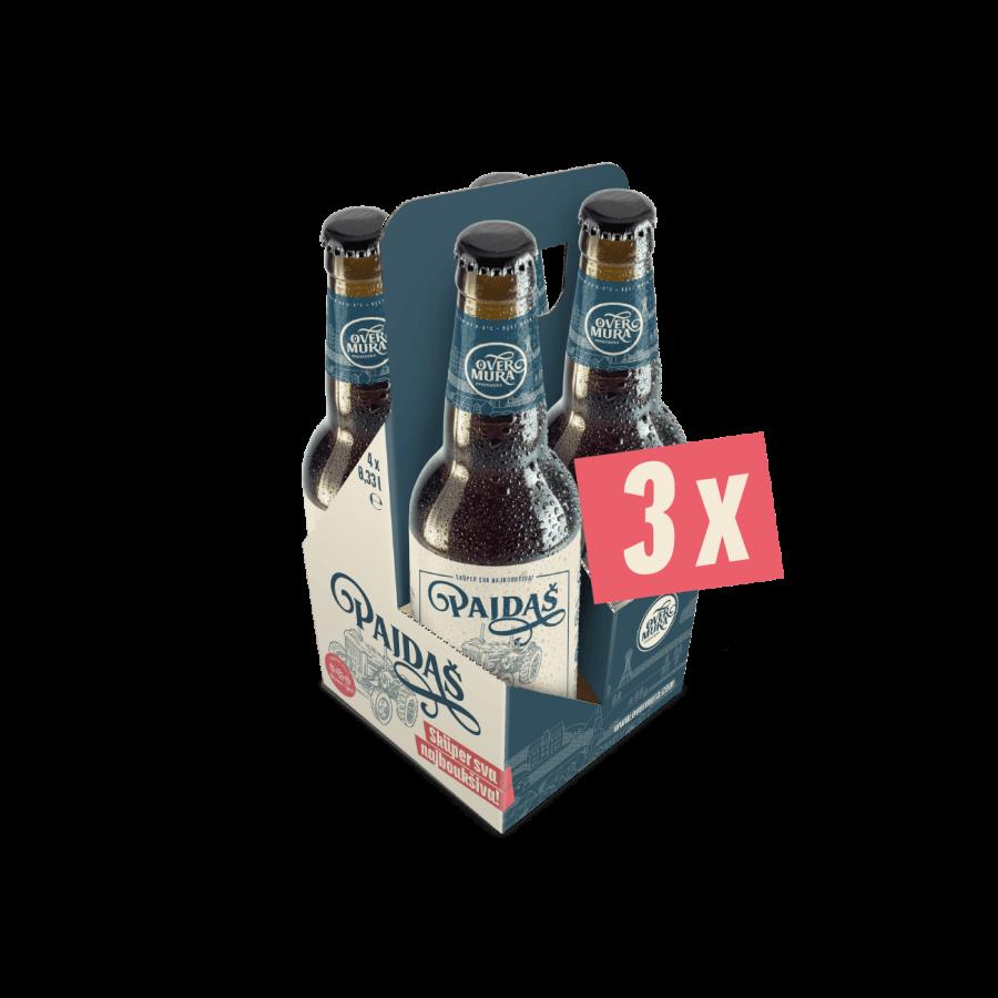 Pajdašev darilni paket s 3 x 4 steklenicami Svetli Premium Lager