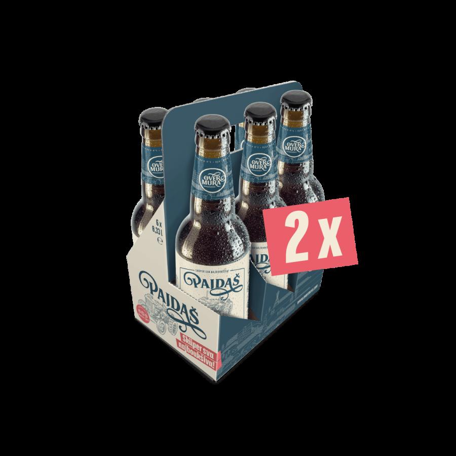 Pajdašev darilni paket z 2 x 6 steklenicami Svetli Premium Lager