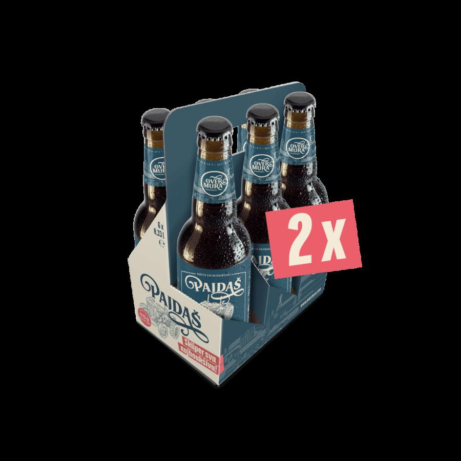 Pajdašev darilni paket z 2 x 6 steklenicami Premium Temno Pivo